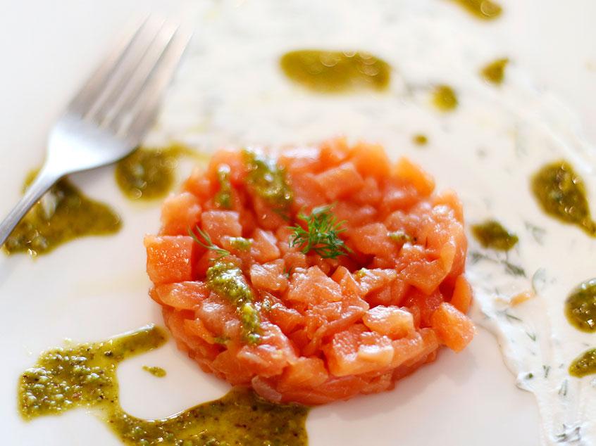 Tartara di salmone